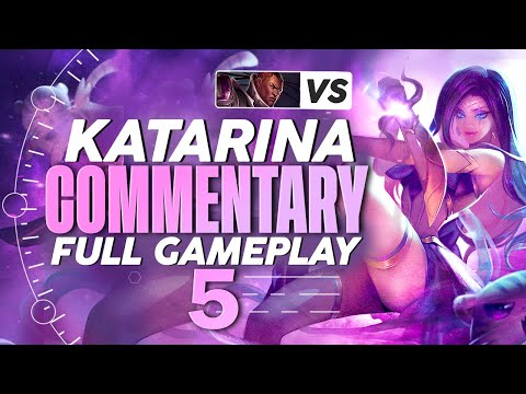 (New) Katevolved | challenger full gameplay commentary 5 - katarina vs. lucian