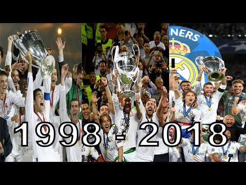 (New) Real madrid all champions league 7x wins 1998 - 2018 hd