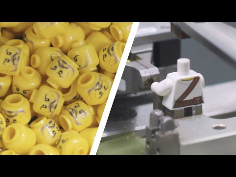(HD) How are lego minifigures made? | lego factory behind the scenes
