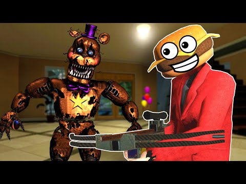 (New) Five nights at freddy's survival in a bounce house?! - (garrys mod fnaf multiplayer)