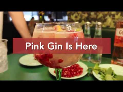 (New) Pink gin cocktail - easy to make