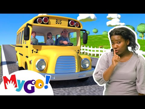 (New) Wheels on the bus | mygo! sign language for kids | cocomelon - nursery rhymes | asl
