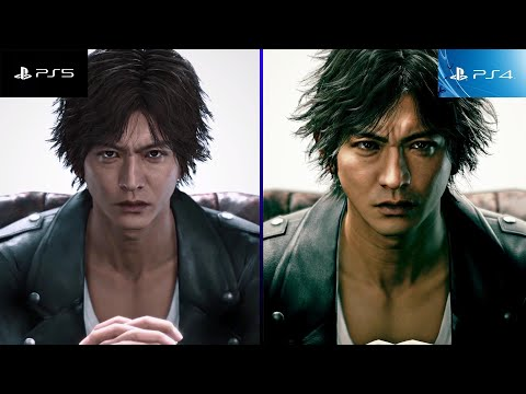 (New) Judgment | ps4 vs ps5 remaster - side by side comparison! (judge eyes 死神の遺言 ps4とps5違い)
