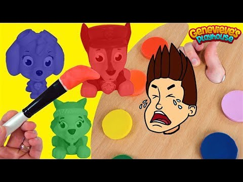 (Ver Filmes) Paw patrol are painted the wrong colors! lets paint them correctly!