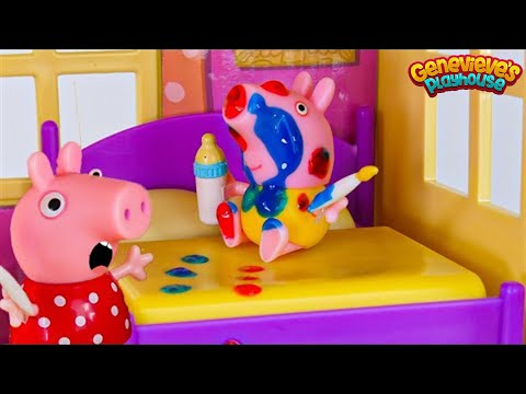 (Ver Filmes) Toy learning video for kids - ♥peppa pig♥ babysitting baby alexander!