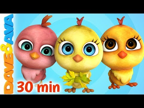 (New) 🐥 little chicks + more nursery rhymes e kids songs | dave and ava 🐥