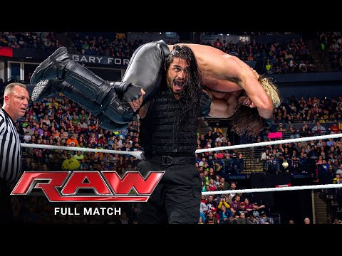 (New) Full match - roman reigns e daniel bryan vs. randy orton e seth rollins: raw, feb. 23, 2015