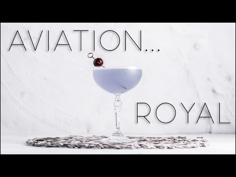 (HD) How to make a royal aviation cocktail - easy gin cocktail recipe