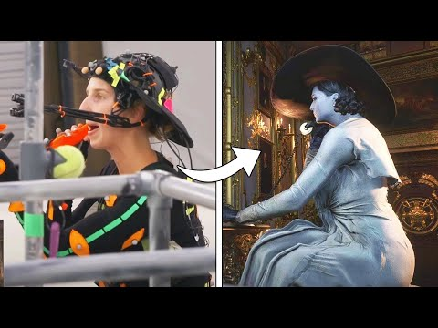 (New) Resident evil village - lady dimitrescu motion capture behind the scenes