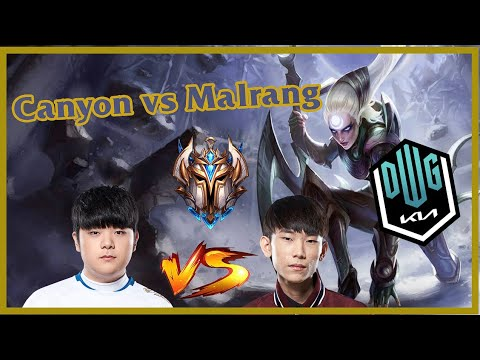 (New) Dwg kia canyon - diana vs lee sin - malrang [ jungle ] patch 11.9 ranked euw pre - msi 2021