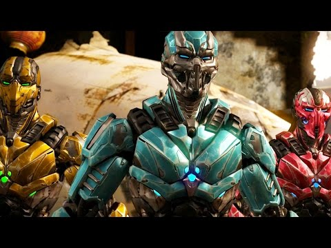 (New) Mortal kombat x - triborg all interaction intro dialogues
