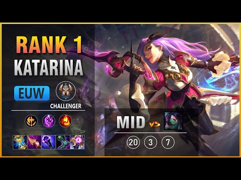 (New) Rank 1 euw katarina mid vs akali patch 11.9