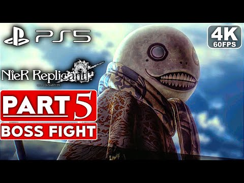 (New) Nier replicant ps5 gameplay walkthrough part 5 boss fight [4k 60fps] - no commentary (full game)