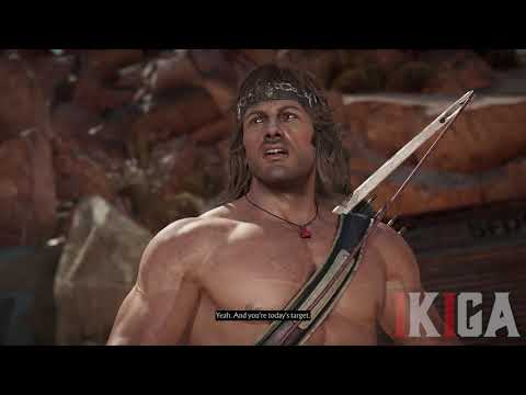 (New) Rambo meets rambo dialogue all intros e victories - mortal kombat 11 ultimate version