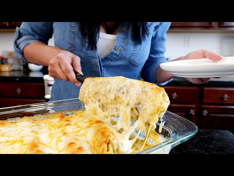 (New) Famous baked burritos smothered w  creamy white sauce   views on the road wet burrito recipe   wab