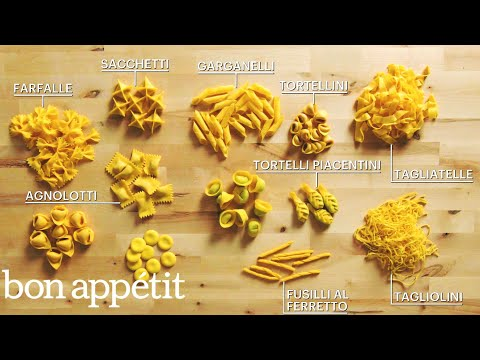 (HD) How to make 29 handmade pasta shapes with 4 types of dough | handcrafted | bon appétit