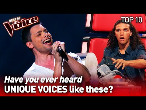 (New) Incredibly unique voices on the voice | top 10