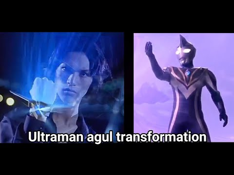 (New) All transformation ultraman agul in series and movie