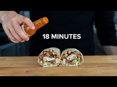 (New) An above average, 18 minute grilled chicken burrito.