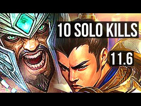 (New) Tryndamere vs xin zhao (top) | 10 solo kills, 2.4m mastery, 500+ games | euw diamond | v11.6