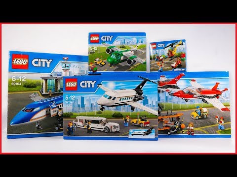 (HD) Compilation lego city airport 2016 sets speed build