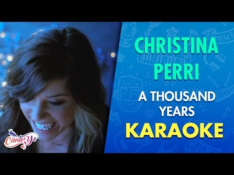 (New) Christina perri - a thousand years (karaoke) | cantoyo
