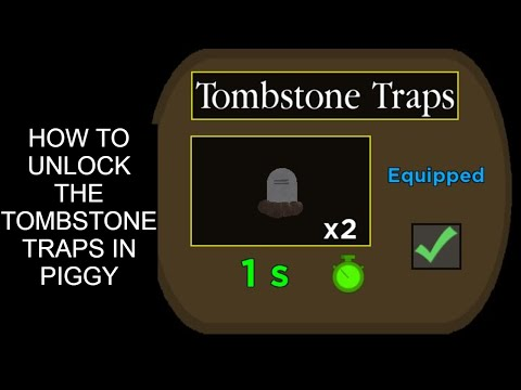 (HD) How to unlock the tombstone traps in roblox piggy
