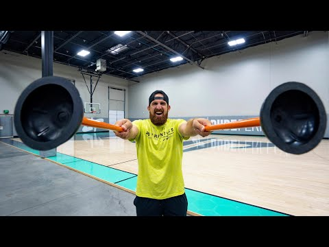 (New) Plunger trick shots | dude perfect