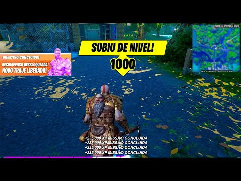 (New) Como subir de nivel muito rapido no fortnite.. novo bug