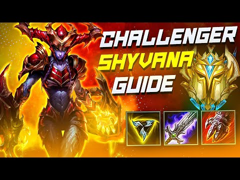 (VFHD Online) Shyvana jungle is insane! | challenger gameplay e guide | wild rift (lol mobile)