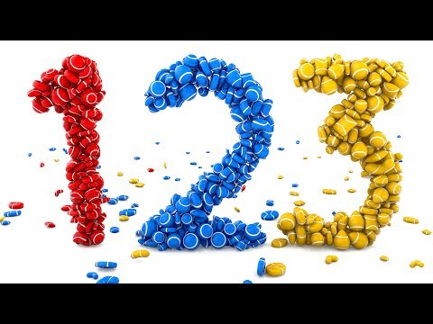 (Ver Filmes) Learn numbers with 3d colorful candies - colors e numbers collection for children