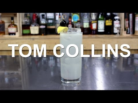 (HD) Tom collins gin cocktail recipe