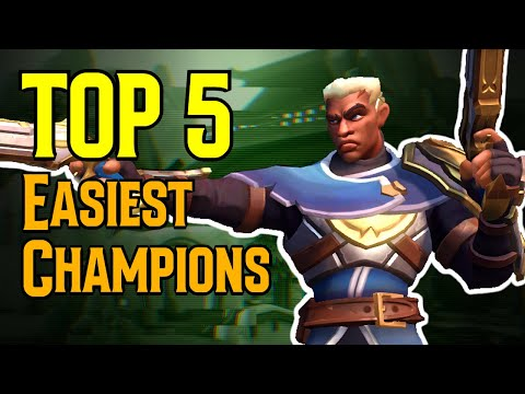 (New) Top 5 easiest champions in paladins (2021)