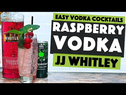 (HD) Raspberry vodka cocktail recipe with an apple twist!