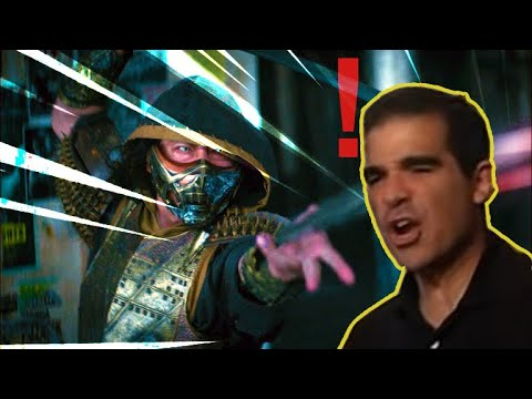 (New) Mortal kombat (2021) scorpion get over here fixed + audience reaction