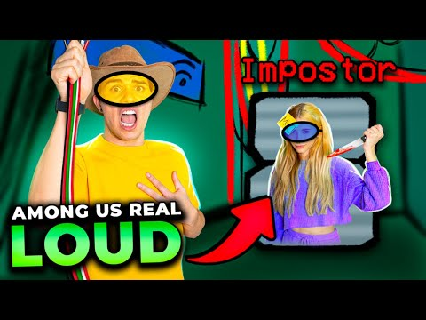 (New) Among us da vida real na mansão loud!!