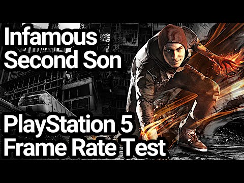 (New) Infamous second son ps5 frame rate test (backwards compatibility)