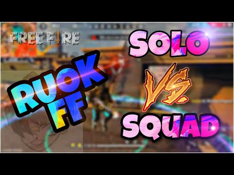 (New) Ruok ff solo vs squad rank full gameplay | switch to ff