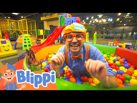 (Ver Filmes) Learning with blippi at kinderland indoor playground for kids | educational videos for toddlers