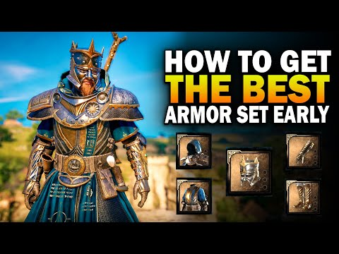 (HD) How to get the best armor set early! assassins creed valhalla thegns armor set