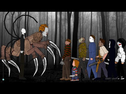 (Ver Filmes) Slender man vs it pennywise vs jason voorhees, freddy, michael, leatherface, chucky, ghostface, jeff