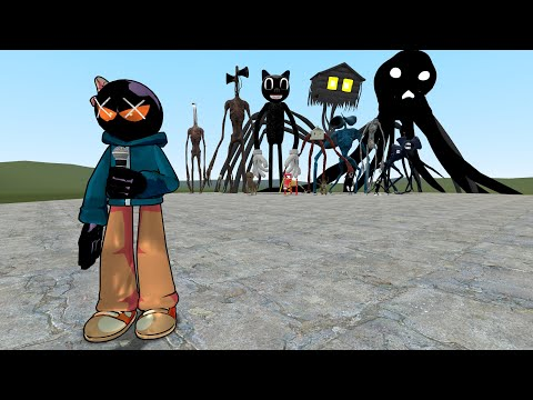 (New) Fnf whitty vs siren head, cartoon cat, and others!! garrys mod [trevor henderson]