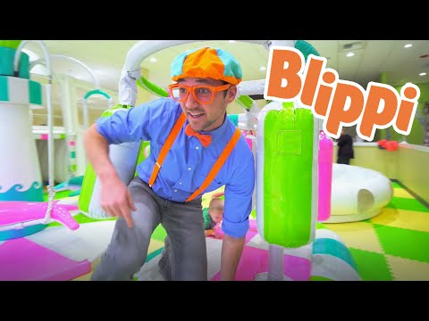 (Ver Filmes) Learning with blippi at an indoor play place for kids | learning for kids