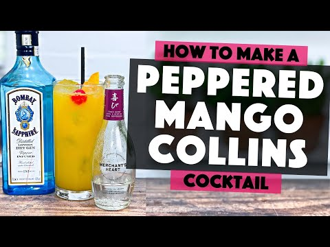 (HD) Easy gin cocktails | how to make a peppered mango collins