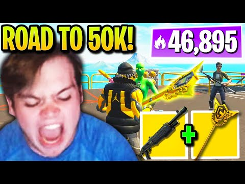(New) Mongraal flexes *rarest* pickaxe on road to 50,000 arena points!