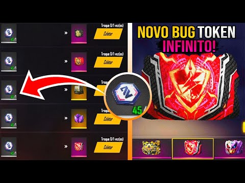 (HD) Novo bug! token hexágono branco infinitos no free fire! pegue todas as skins do gelo!