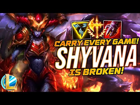 (New) Shyvana is broken! - pro build + guide! - wild rift ranked gameplay! - synczio