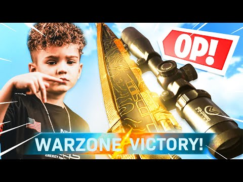 (New) 6 year old warzone prodigy picks up a sniper and this happened...