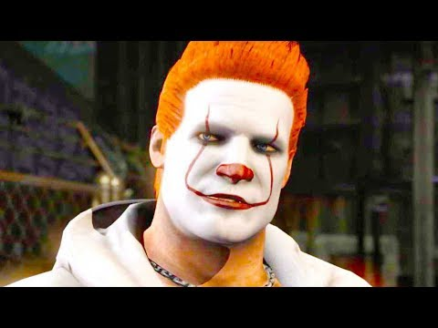 (New) Mortal kombat xl - pennywise johnny cage costume skin mod performs intros on alll stages 4k mods