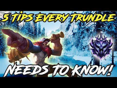 (New) 5 tips every trundle needs to know! league of legends 2020 new season!